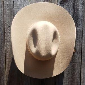 Mens SCHNEIDERS long oval wool cowboy hat 6 3/4